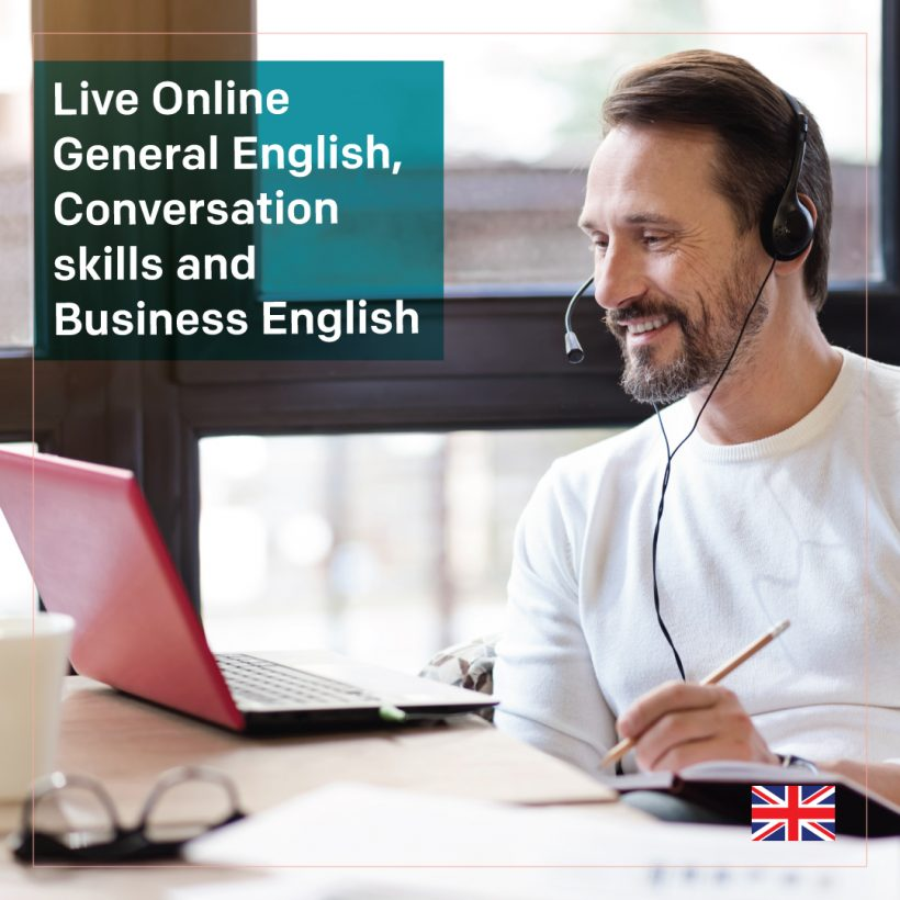 Live Online General English, Conversation skills and English for work