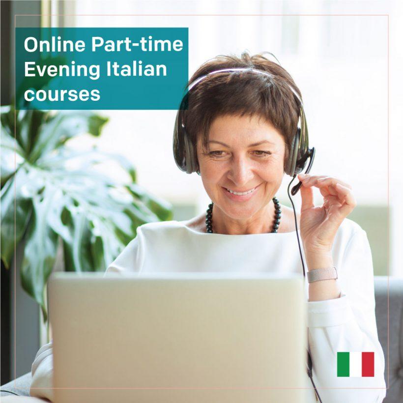 Live Online Part-time Evening Italian courses